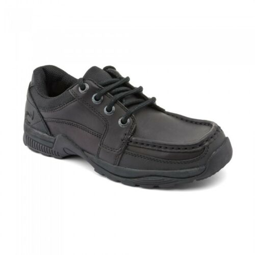 Start-rite Rhino DYLAN Boy's Black Leather Lace Up School Shoe