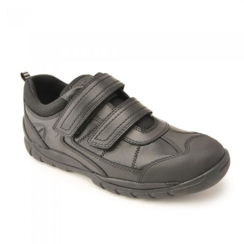 Start-rite Rhino OLIVER Boy's Black Leather School Shoe