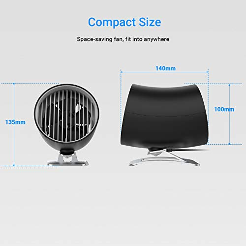 EasyAcc Upgraded Personal USB Fan -Black