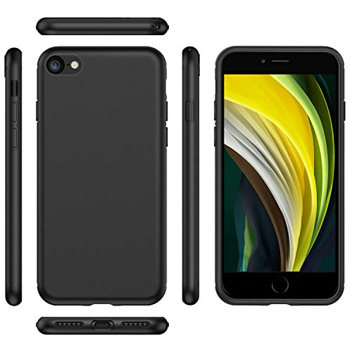 EasyAcc Black TPU Case with Matte Finish for iPhone 7/ iPhone 8