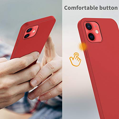 EasyAcc Slim Case for iPhone 12/12 Pro - Red