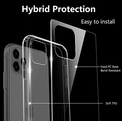 EasyAcc Slim Clear Case for iPhone 11 with Screen Protector