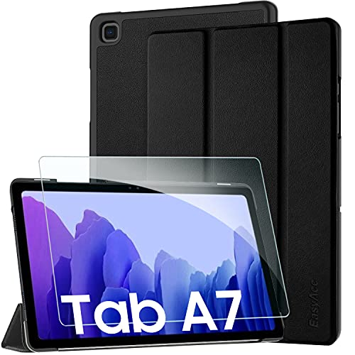 EasyAcc Leather Case for Samsung Galaxy Tab A7 10.4 2020 with Tempered Glass