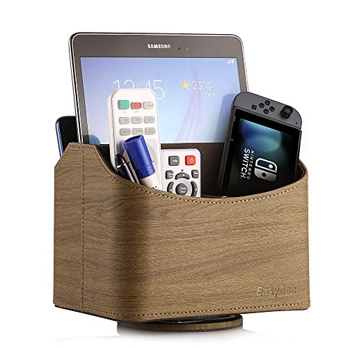 EasyAcc Spinning Remote Control Holder 360° Rotation Media Storage Organizer - Brown
