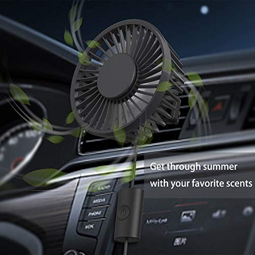 EasyAcc 360° Rotation Car Vent USB Fan