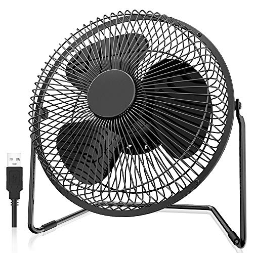 EasyAcc 8 inch 5200mAh Operated Desk Fan for BBQ Outdoors Camping Travel Office