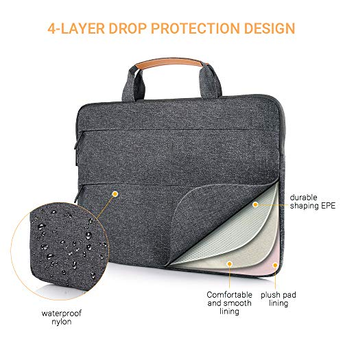 EasyAcc 13-13.3 Inch Laptop Bag with Stand Function - Dark Gray