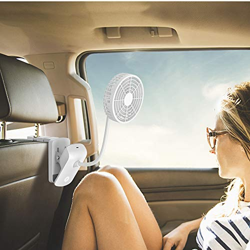 EasyAcc 2600mAh 360° Rotation Car Clip Fan