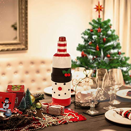 EasyAcc Christmas Wine Bottle Cover - Snowman