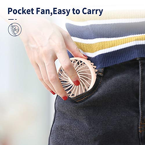 EasyAcc 3350mAh Mini Handheld Fan -Pink