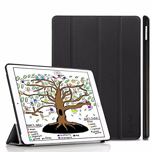 EasyAcc Ultra-Slim Smart Case with Stand for iPad 9.7 2018/ 2017 - Black