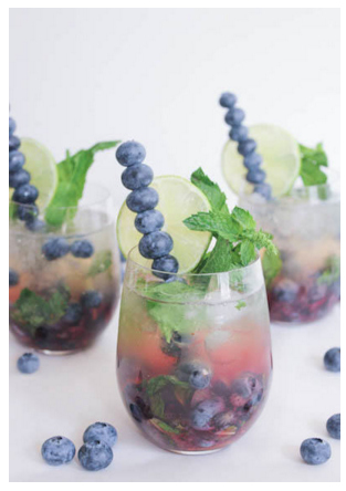 Tipsy Tuesday: BLUEBERRY MOJITO