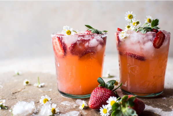 Tipsy Tuesday - Strawberry Chamomile Paloma
