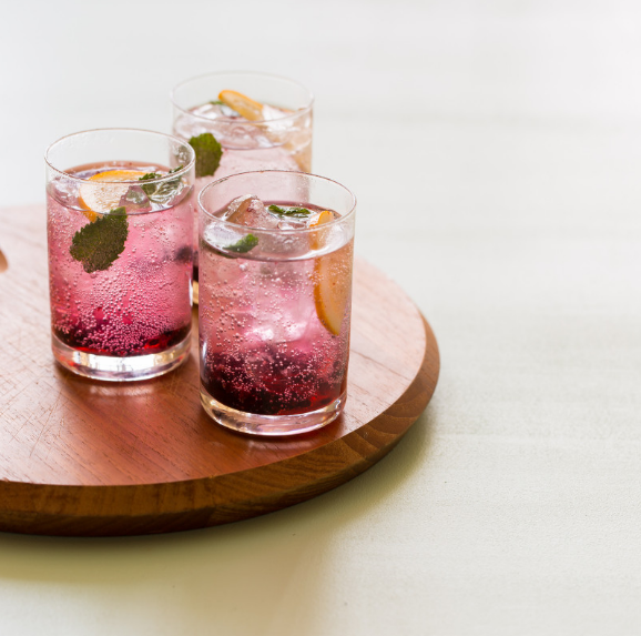 Blackberry and Meyer Lemon Gin & Tonics