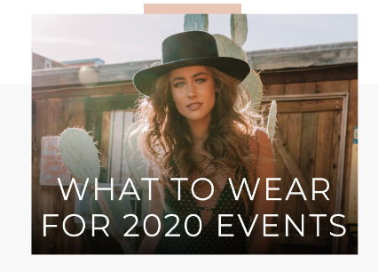 What To Wear For 2020 Events