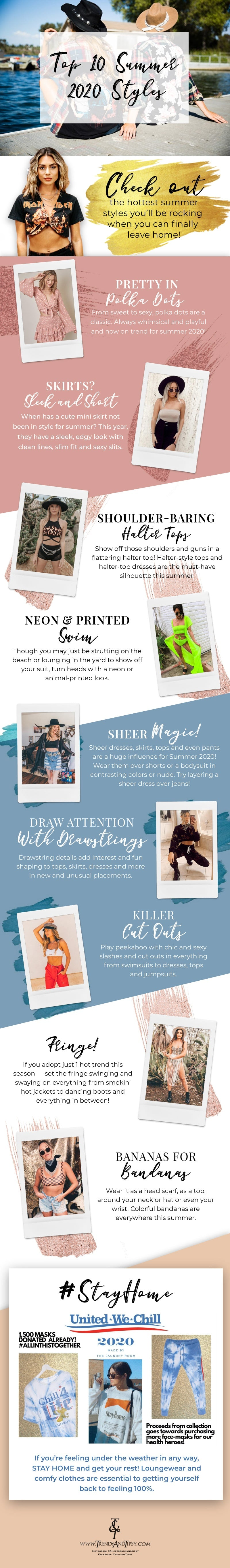 Top 10 Summer Styles for Women in 2020 infographic
