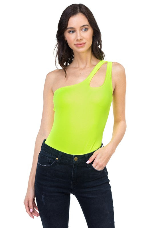 One-Sided Bodysuit- Neon