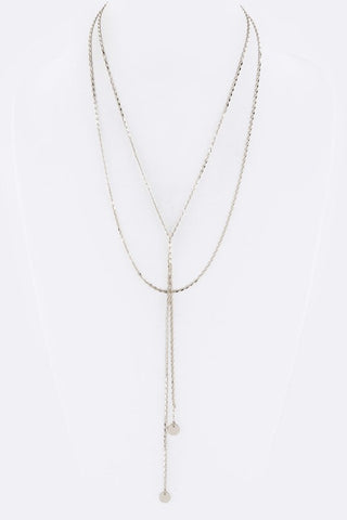 Layered Rhinestone Elegant Necklace