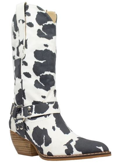 Dolly Western Cowboy Boot- Cowhide
