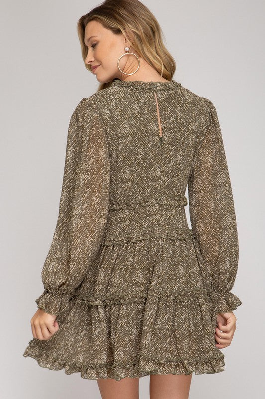 Sandra Mini Dress- Snakeskin