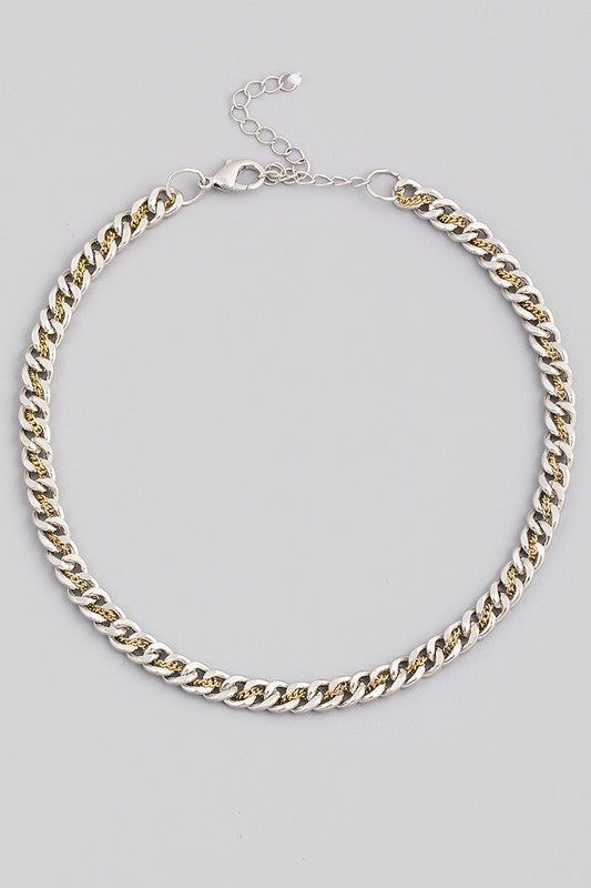 Chain Link Lobster Clasp Necklace