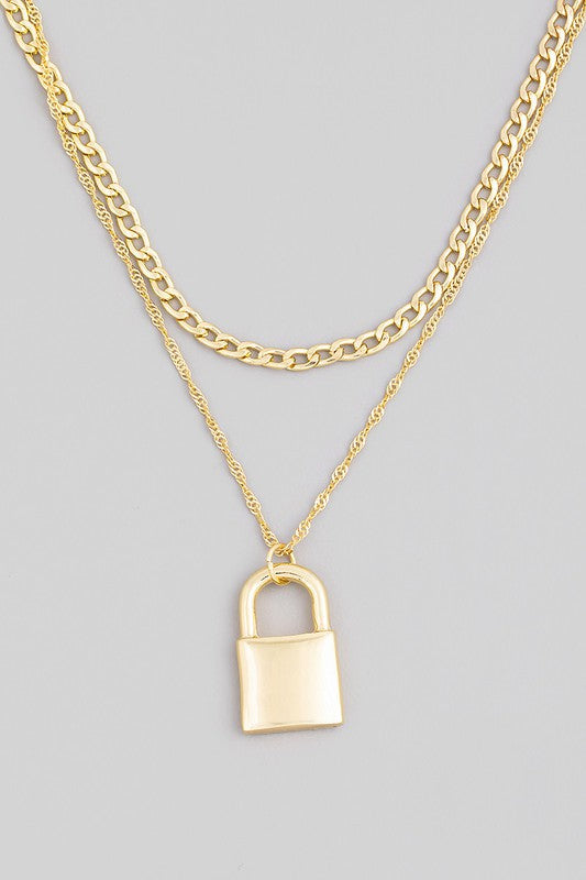 Lock Chain Necklace