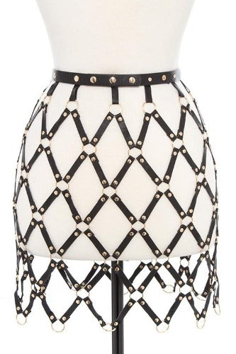 Leather Ring Skirt Belt - Trendy and Tipsy
