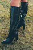 Delaney Croc Knee High Boots