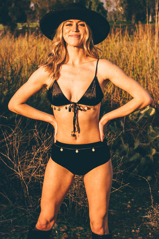 Summer Solstice Bra- Black