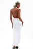 Mayan Halter Dress- White