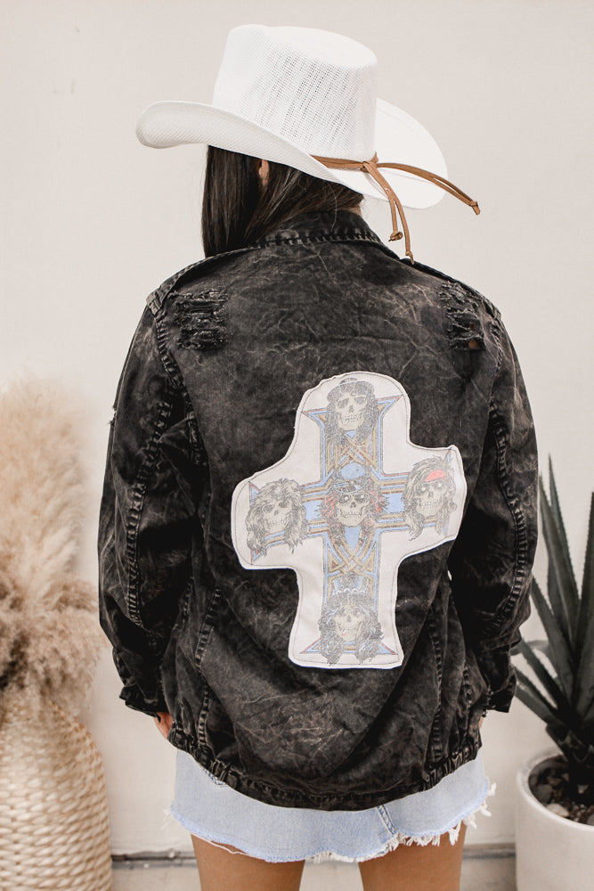 Forget Me Not Floral Back Flannel #2