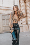 High Waisted Leather Pants- Black