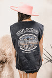 Fringe Denim Jacket- Dark Wash