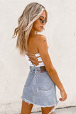 Monica Crop-White
