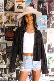 Vintage  Black and Gold Sequin Top