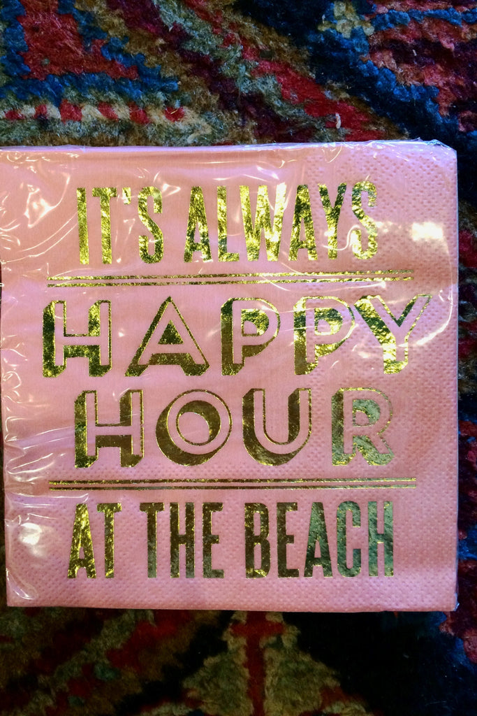 Happy Hour Beach Napkin - Trendy and Tipsy