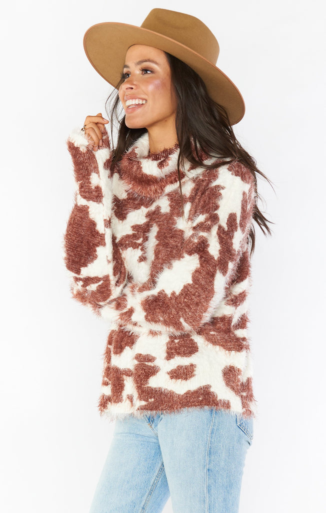 Show Me Your Mumu Frances Cow Sweater