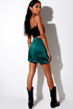 Shenka Mini Skirt- Forest Green