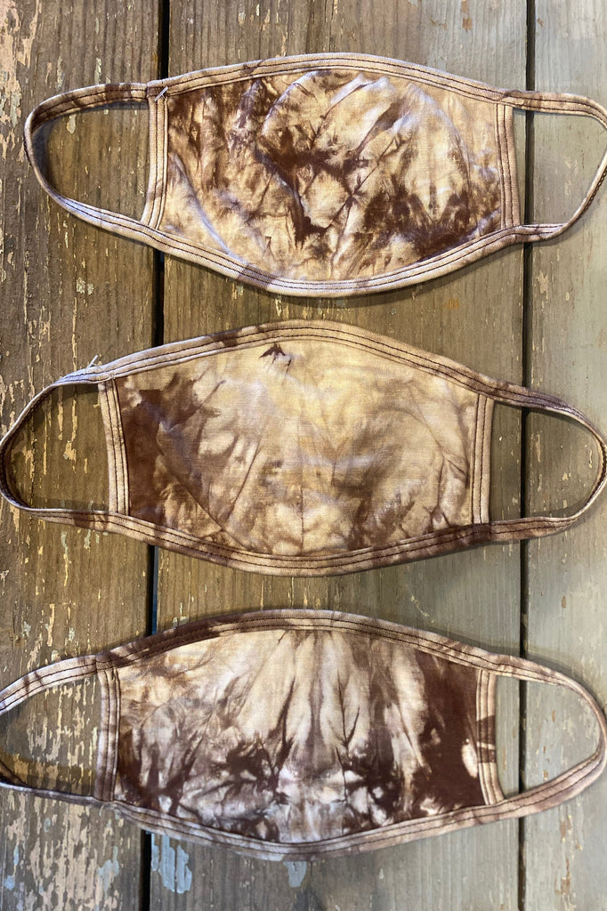Tie Dye Mask- Taupe