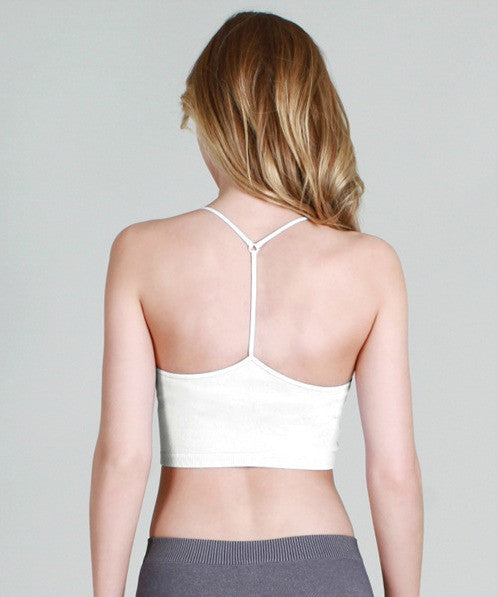B123 Seamless Y-Back Bralette - Multiple Colors-Final Sale Item