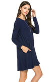 Carolina Dress - Navy (Long-Sleeve) - Bungalow 123 - 2