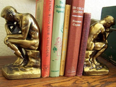 "Vintage ""The Thinker"" Bookends"