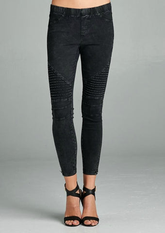 Danica Moto Jeggings - Black