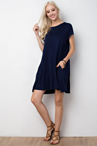 Carolina Dress - Navy