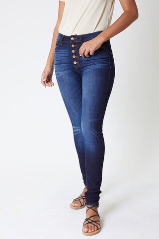 KanCan Button Up Curve Jeans