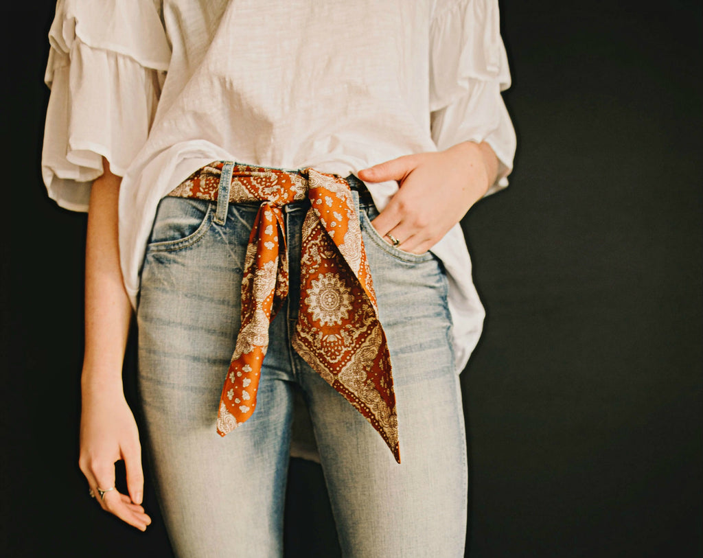 Boho Neckerchief - Camel or Rust