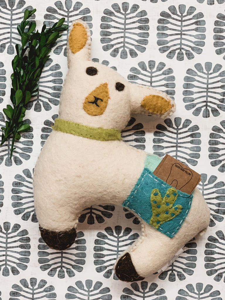 Tooth Fairy Pillow - Llama