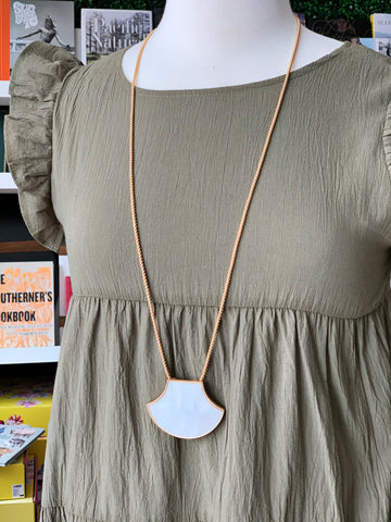 Colmar Necklace - White/Gold or Blue/Gray