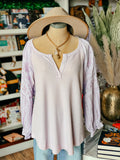 Hannah Top - Off White or Dusty Lilac