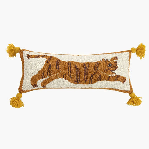 Tigress Pom Pom Hooked Pillow by Justina Blakeney